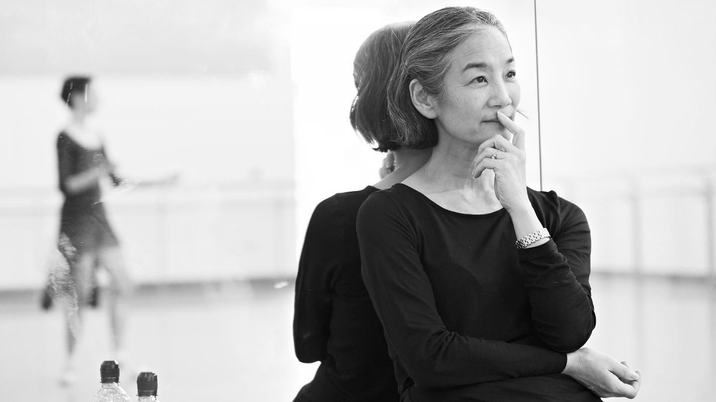 Yoko Ichino looks on thoughtfully during Cinderella rehearsals
