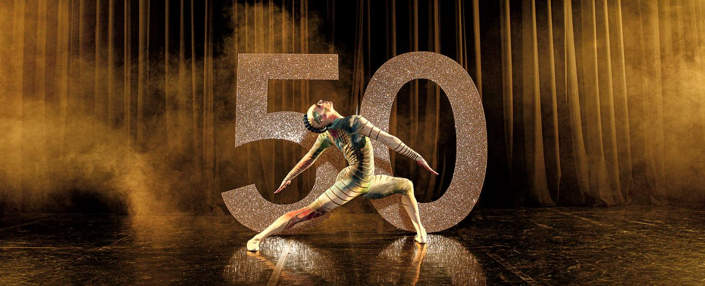 Joseph Taylor as Wadjet in a photoshoot image for Northern Ballet's 50th anniversary. Photo Guy Farrow.