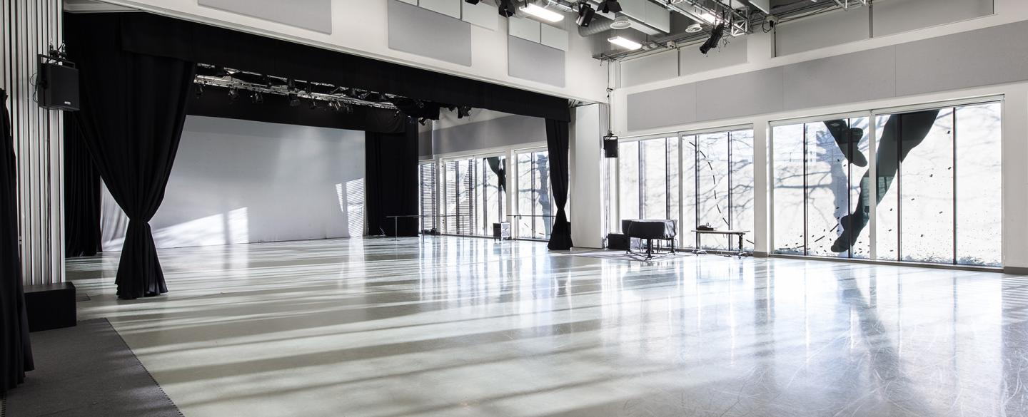 A large dance studio