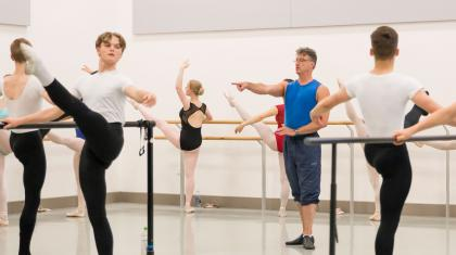 Academy Director, David Nixon OBE, teaching on the Academy's Summer School. Photo Lauren Godfrey
