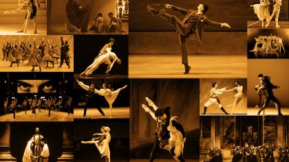 A Collage of images from the last 50 years of Northern Ballet
