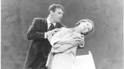 Christopher Gable embraces Moira Shearer on stage