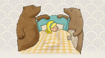 Poster image for Goldilocks & the Three Bears drawn by Richard Barrelle