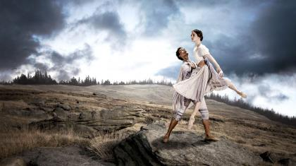 Isaac Lee-Baker lifts Dreda Blow on the moors in this poster image taken by Guy Farrow