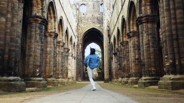 d'Artagnan runs into Kirkstall Abbey